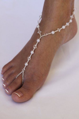 Barefoot Sandals Foot Jewelry Beach Wedding Bridal Jewelry Sandals | ABiddaBling - Wedding on ArtFire