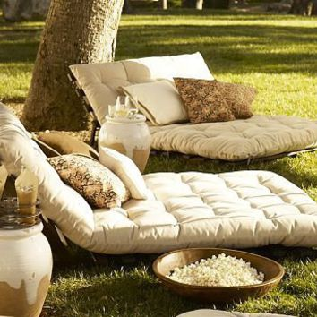 Chesapeake Futon Lounger | Pottery Barn