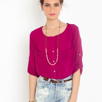Bright On Blouse - Magenta  in  Sale at Nasty Gal