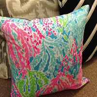 "Let's Cha Cha Lilly Pulitzer 16x16"" Pillow & Cover Zip"