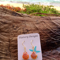 Stunning Sunrise Shell Earrings