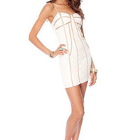 Roxie Bustier Dress in Ivory :: tobi