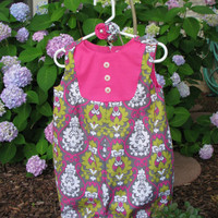 Girls Romper by alulubugdesign on Etsy