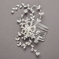 Crystal Embellished Floral Hair Comb - David's Bridal