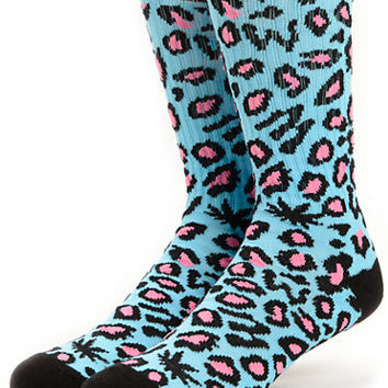Odd Future Domo Cheetah Blue Crew Socks