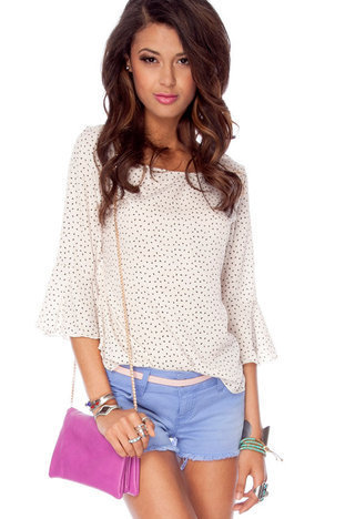 Isosceles Top in Ivory :: tobi