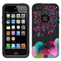 Otterbox Commuter Series Love Tree on Black Hybrid Case for iPhone 5 & 5s