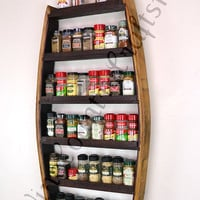 Wine Barrel Spice Rack - 100% recycled Napa barrels