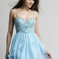 Dave & Johnny 10069 Beaded Sweetheart Dress