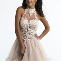 Dave & Johnny 10558 Lace Sweetheart Dress
