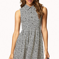 Static Print Fit & Flare Dress