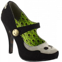 """Necrotic"" Heels by Bettie Page™ Shoes (Black)"