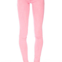 Neon Skinny Jeans in Light Neon Pink :: tobi
