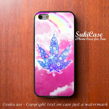 WEED IPHONE 5S CASE Feeling High Rainbow Vivid Bright iPhone Case iPhone 5 Case iPhone 4 Case Samsung Galaxy S4 S3 Cover iPhone 5c iPhone 4s
