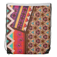 Zimbabwe Multi Drawstring Backpack by KCS