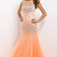 Long Strapless Gown by Blush