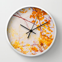 Yellow Madness Wall Clock by Hello Twiggs