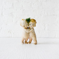 Kewpie Dolls Air Plant Lovers Bisque Dolls by EarthSeaWarrior