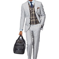 Suit Light Grey Plain York P3843 | Suitsupply Online Store