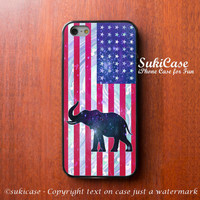IPHONE 5S CASE United State ELEPHANT On Star Galaxy Flag iPhone Case iPhone 5 Case Samsung Galaxy S4 S3 Cover iPhone 5c iPhone 4s iPhone 4