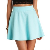 DOTTED JACQUARD HIGH-WAISTED SKATER SKIRT