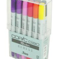 Copic Ciao Marker Set Of 12: Basic Colors