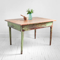 Vintage Wood Farm Dining Table Mid Century Modern by Hindsvik