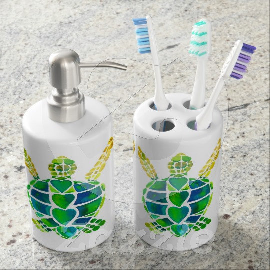 decorative toothbrush holder and soap from