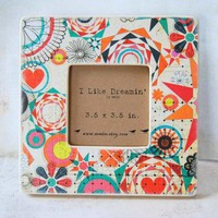 Geometric Art Picture Frame by Mmim on Etsy