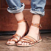 Free People Womens Harpoon Wrap Sandal -