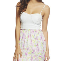 Bustier Bodice Floral Dress | Wet Seal