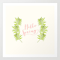 Hello Spring Art Print by Grace