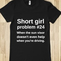 Short Girl Problem-Female Black T-Shirt