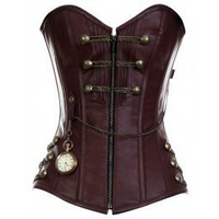 CD-467 - Brown Steam punk Style Corset with Chain Detail - 2012 Collection!