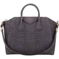 Croc-Embossed Medium Antigona Duffel