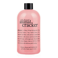 philosophy 3-in-1 ultra rich shampoo, shower gel & bubble bath, pink frosted animal cracker
