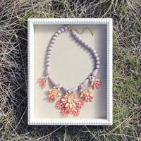 Hive & Honey Necklace in Lilac - Lilac & Pink
