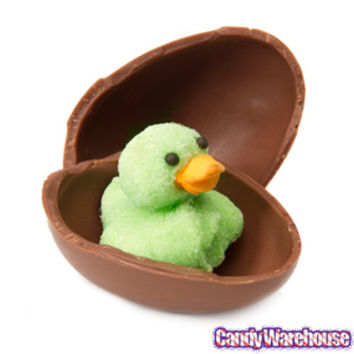 Waddles Marshmallow Ducks in Chocolate Eggs: 12-Piece Box