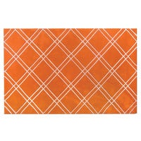 Contemporary Bailey Orange - White Rug - 72124 By The Rug Market
