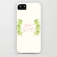Hello Spring iPhone & iPod Case by Grace