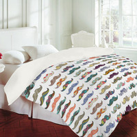 DENY Designs Home Accessories | Bianca Green Mustache Mania Duvet Cover