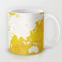 MAP! (in gold) Mug by Leah Thibodeau