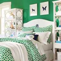 Peyton Duvet Cover + Sham, Kelly Green