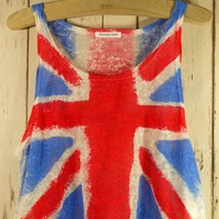 Retro Great Britain Flag Dyed Top - Chic+ - Retro, Indie and Unique Fashion
