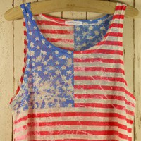 Retro American Flag Dyed Top - Chic+ - Retro, Indie and Unique Fashion