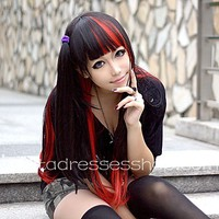 Black and Red Mixed Lolita Cosplay Wig