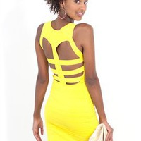 West Coast Wardrobe Lemonade Bandage Dress - boutiquetoyou.com