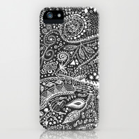 Aztec B&W (Handmade) iPhone & iPod Case by Eleaxart