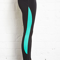 Mesh Paneled Yoga Leggings