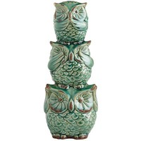 Hear, See & Speak No Evil Owl Bank